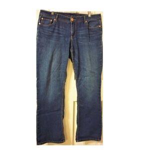 SEVEN7 Luxe Women's Plus Size 16 Slim Boot Jeans